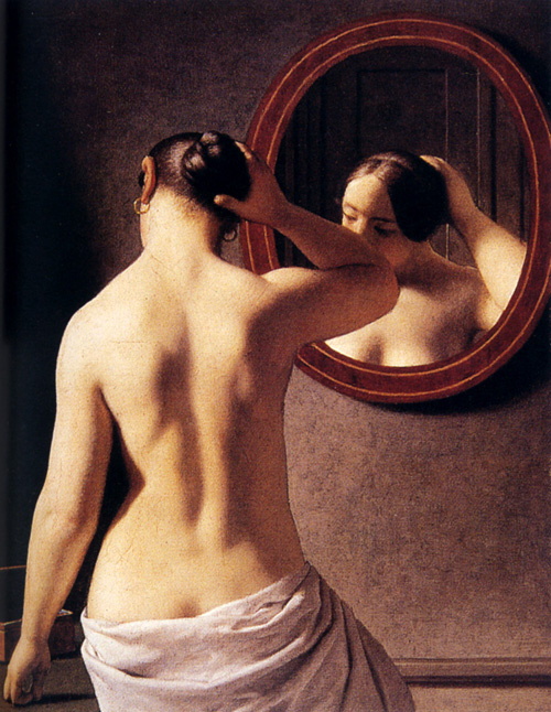 christoffer-wilhelm-eckersberg-xx-woman-standing-in-front-of-a-mirror-1841-xx-private-collection1